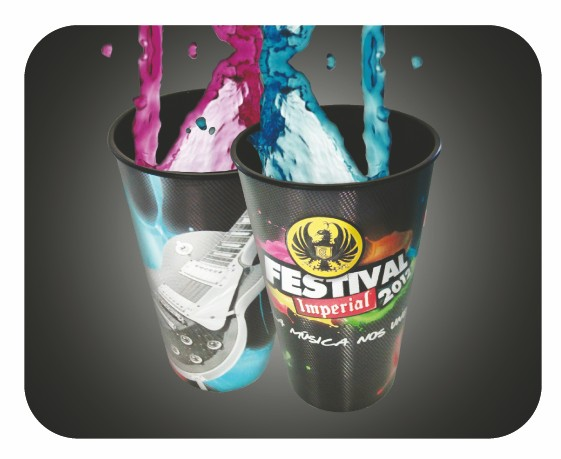 Full Color Foil 32oz Cups